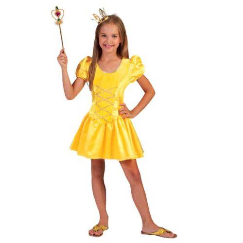 Kostuum Prinses meisje geel